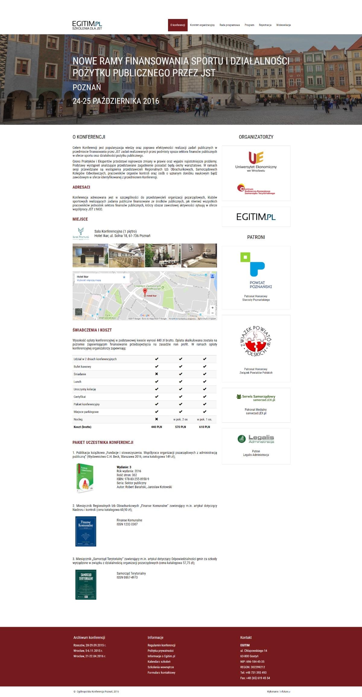 Strona www - Konferencja NGO Poznań