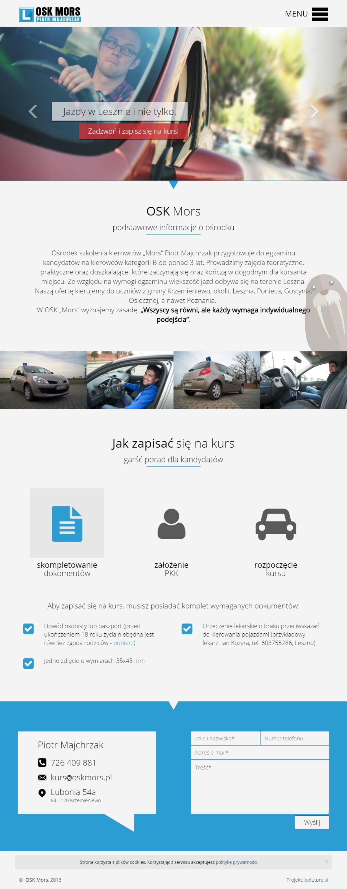 Strona www - oskmors.pl